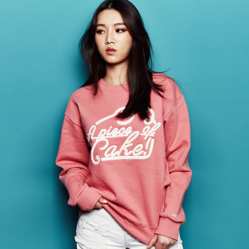 "Big logo Crew neck T-shirt ""Pink"""