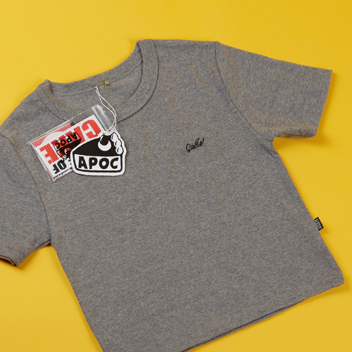 Cake Logo Crop Top 'Gray'