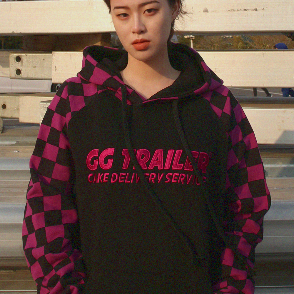 GG Trailer Checkerboard Hoodie_Purple