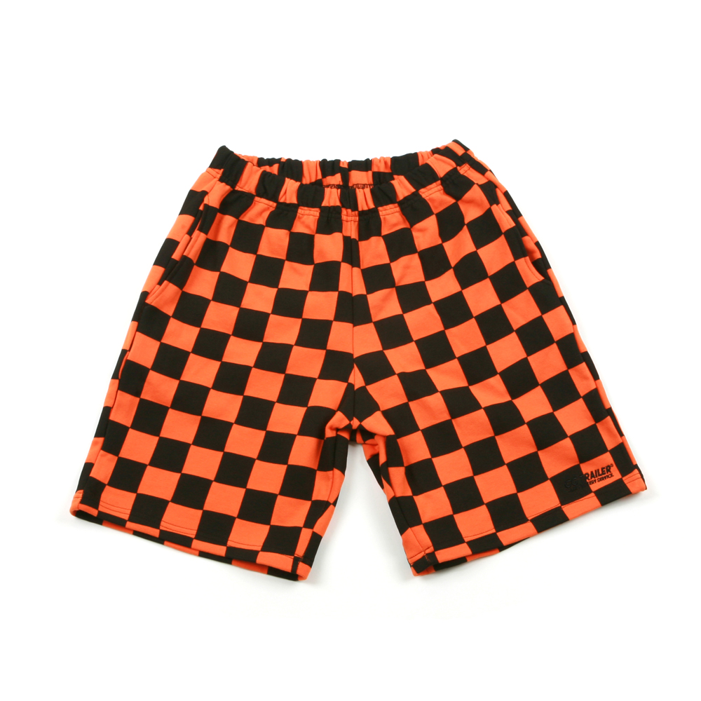 GG Trailer Checkerboard 1/2 Pants_Orange