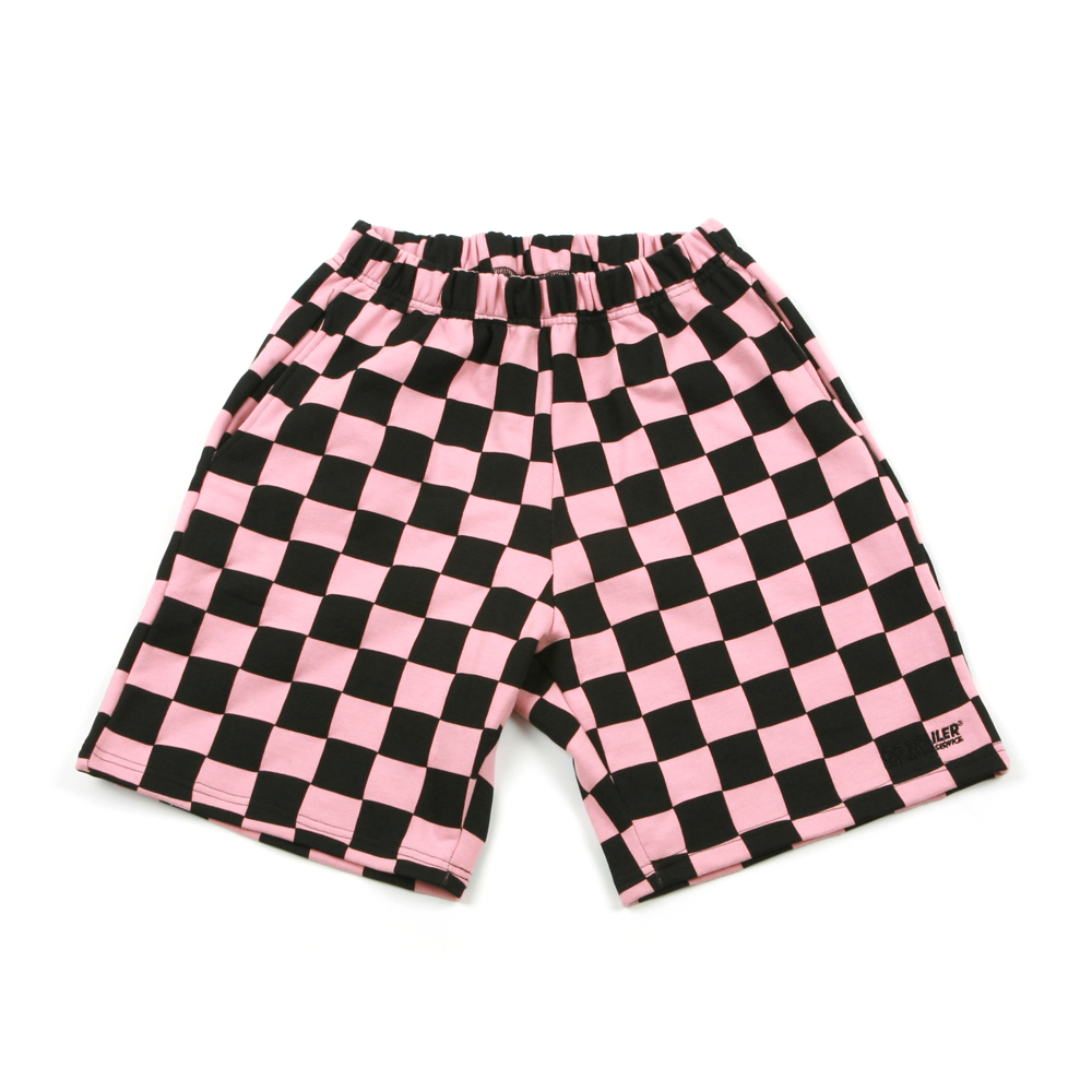 GG Trailer Checkerboard 1/2 Pants_Pink