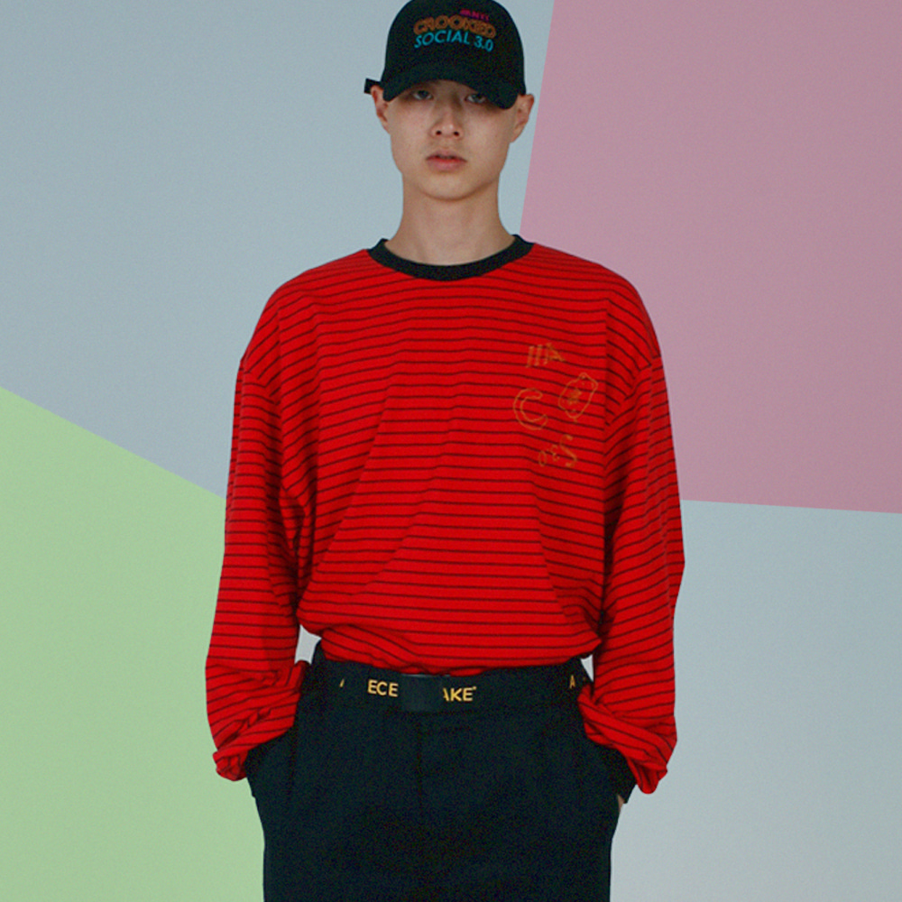 ACS3.0 Stripe Longsleeved T-shirts_Red
