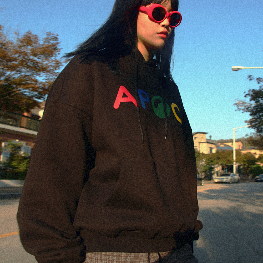 Multi Color Logo hoodie_Black