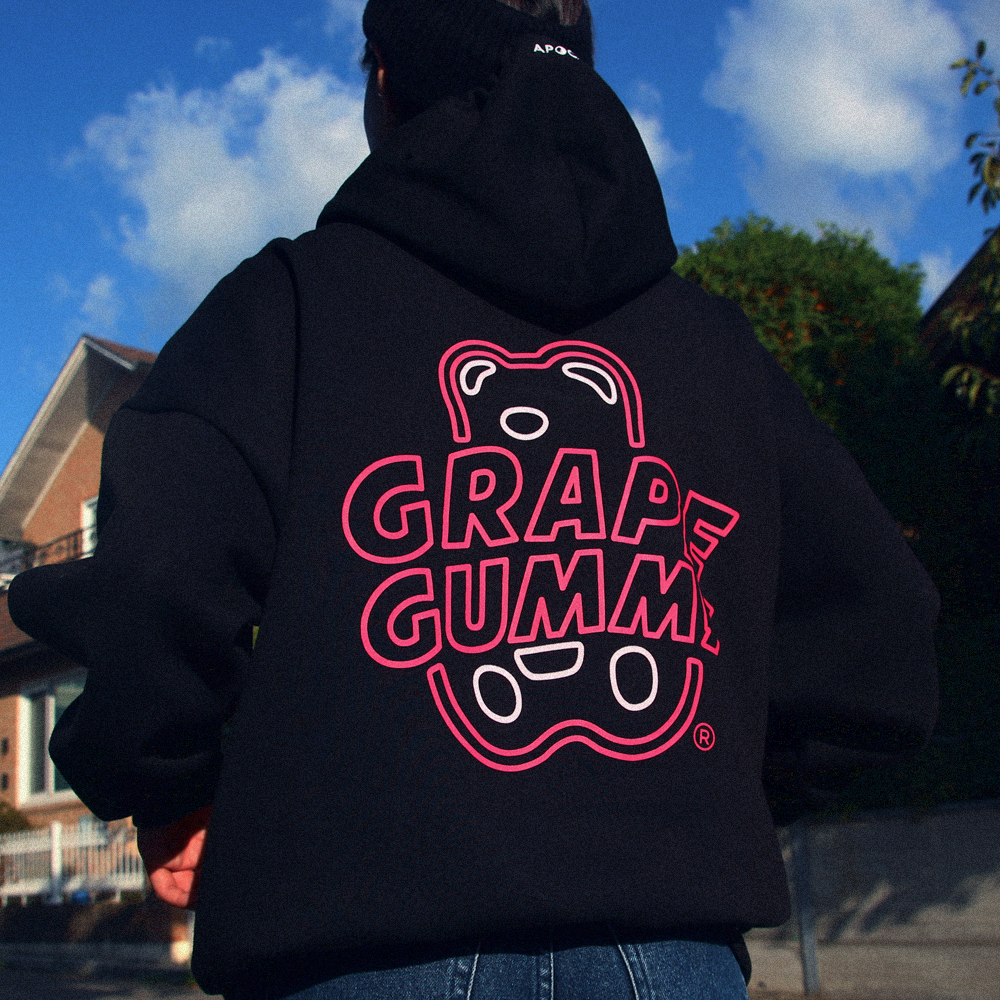 Grape Gummy Hoodie Ver.2_Black