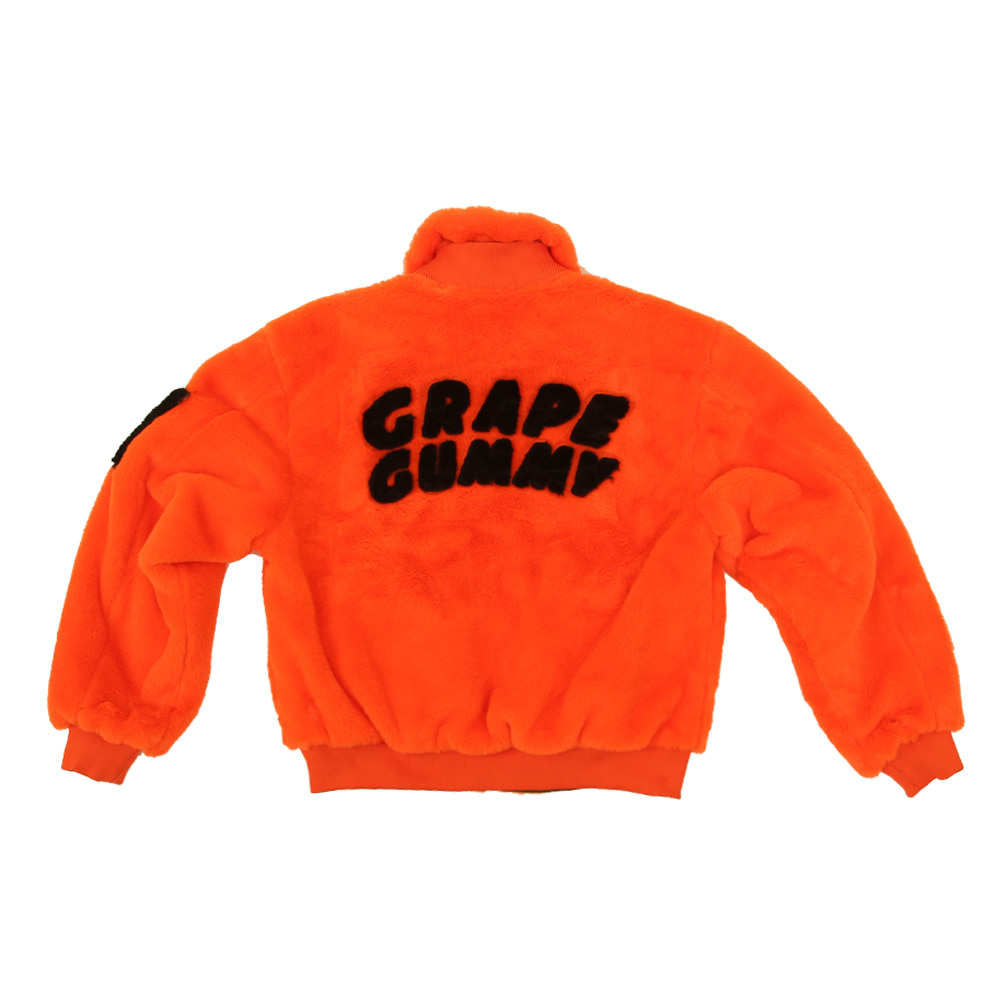 Grape Gummy Reversible MA-1 ver.2_Orange/Khaki