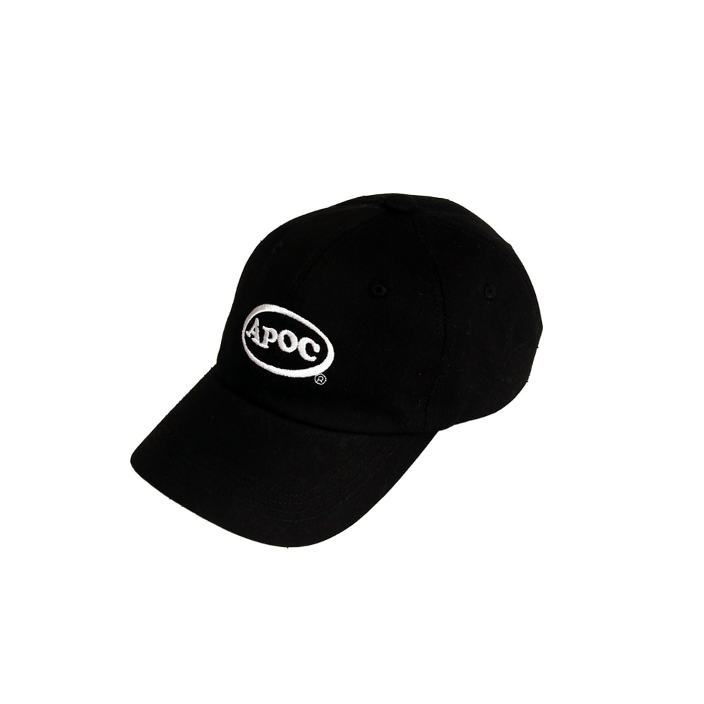 Oval Logo Baseball Cap_Black