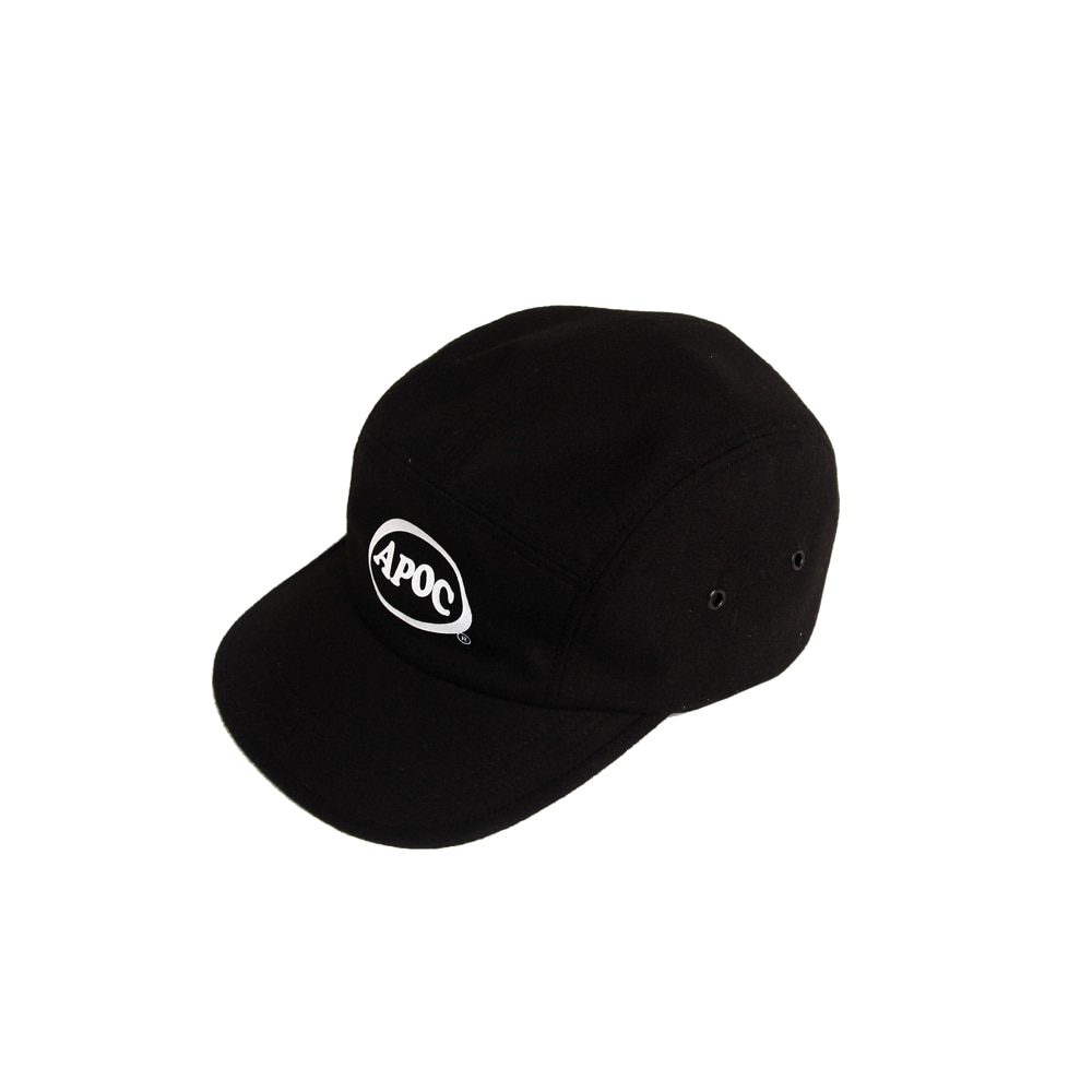 Oval Logo Camp Cap_Black
