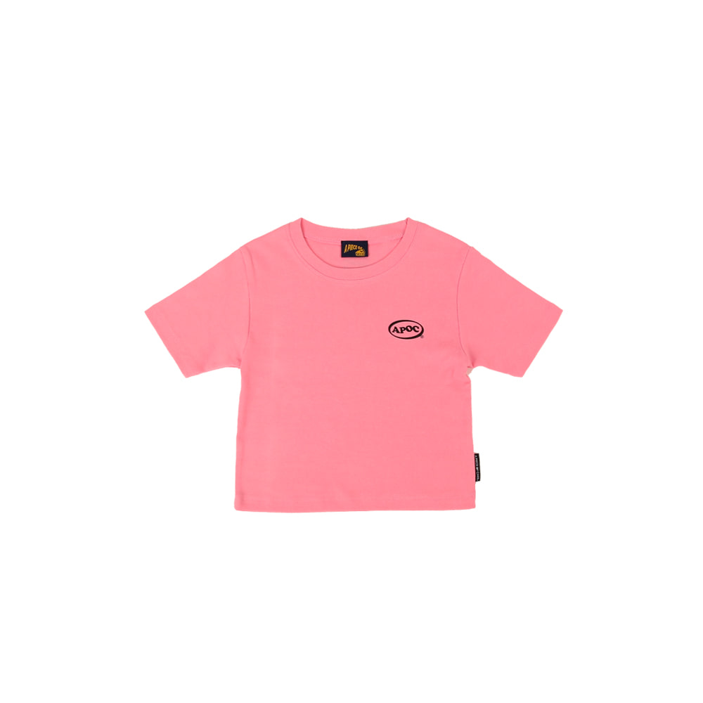 Oval Logo Crop Top_Pink