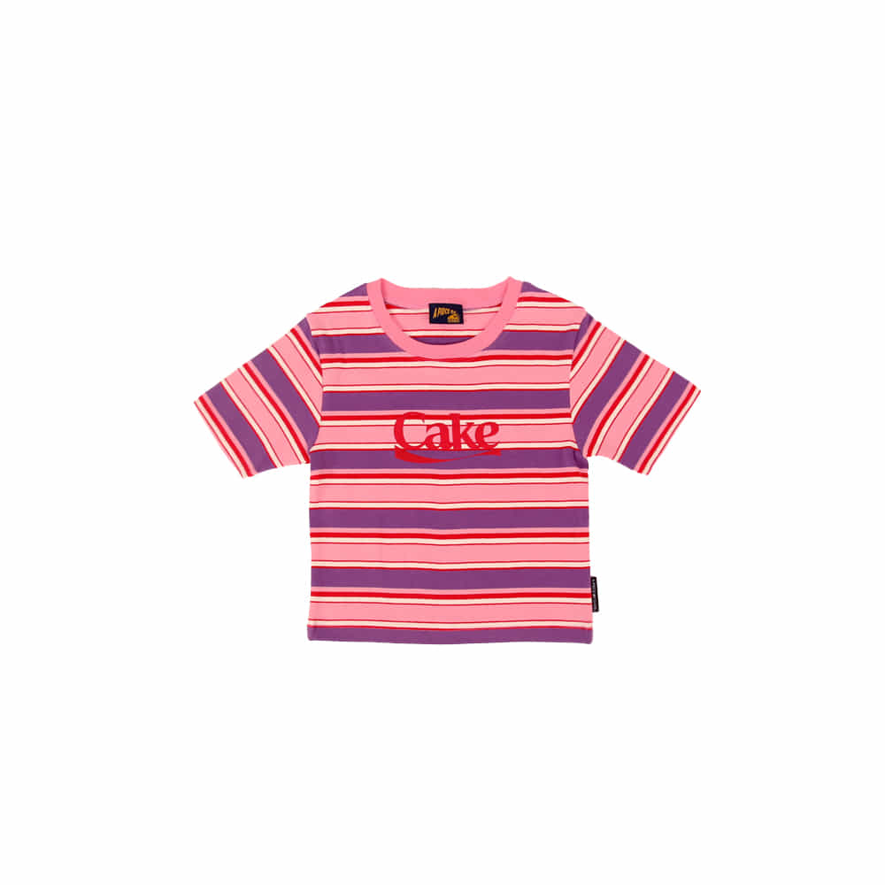 Cake Stripe Crop Top_Pink