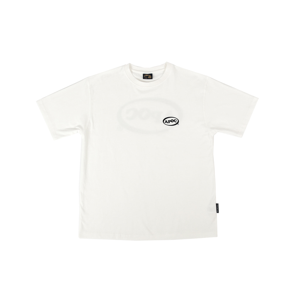 Oval Logo 1/2 T-shirts_White