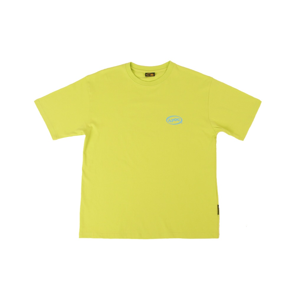 Oval Logo 1/2 T-shirts_Lime