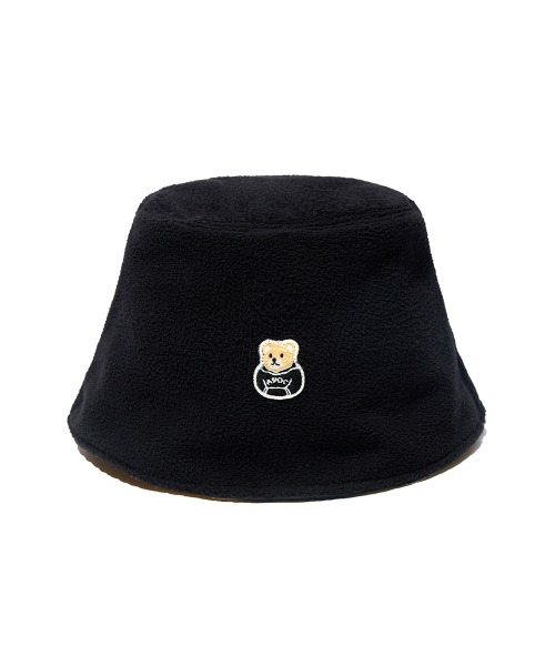 Reversible Fleece Bucket Hat_Black