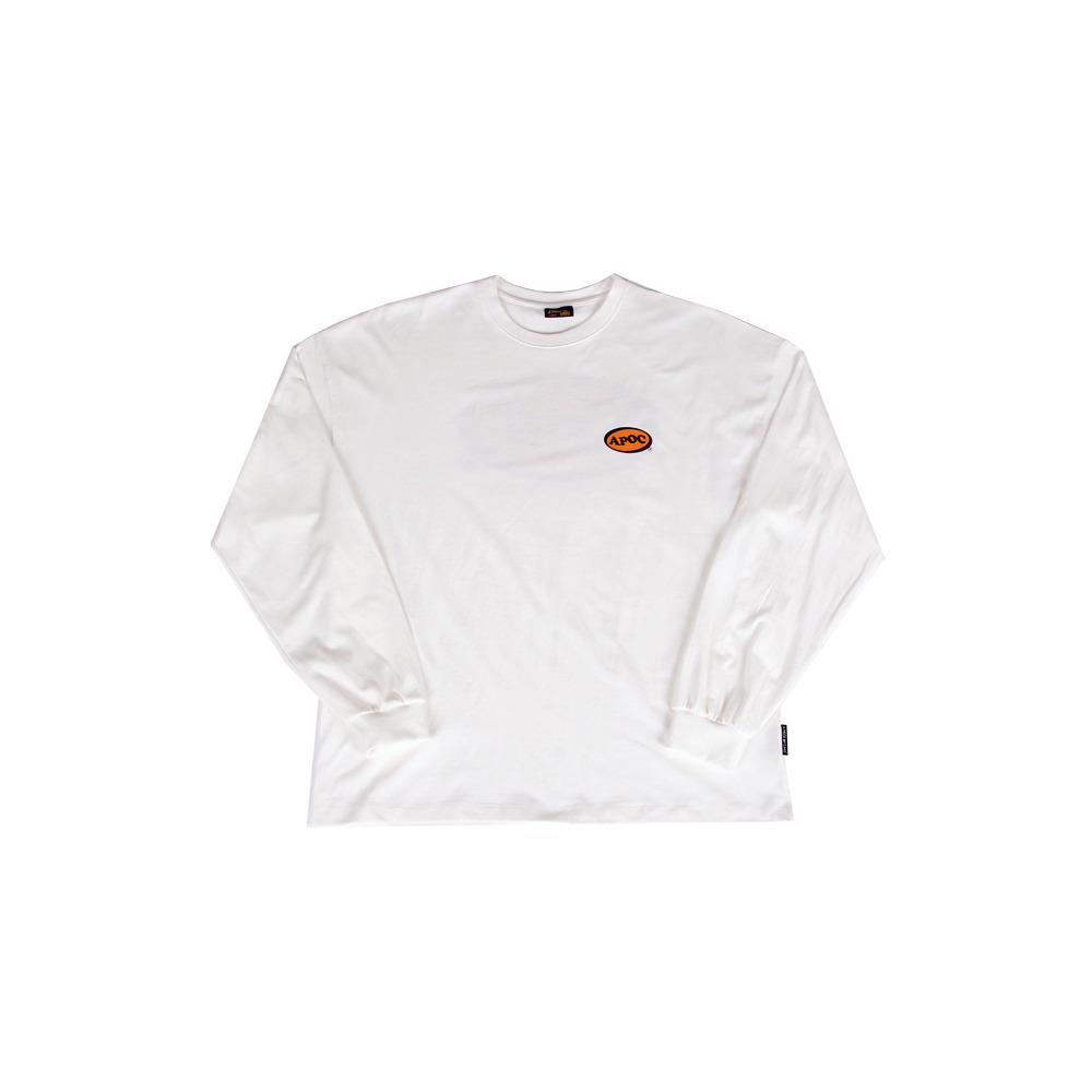 Oval Logo Longsleeved T-Shirts_Offwhite