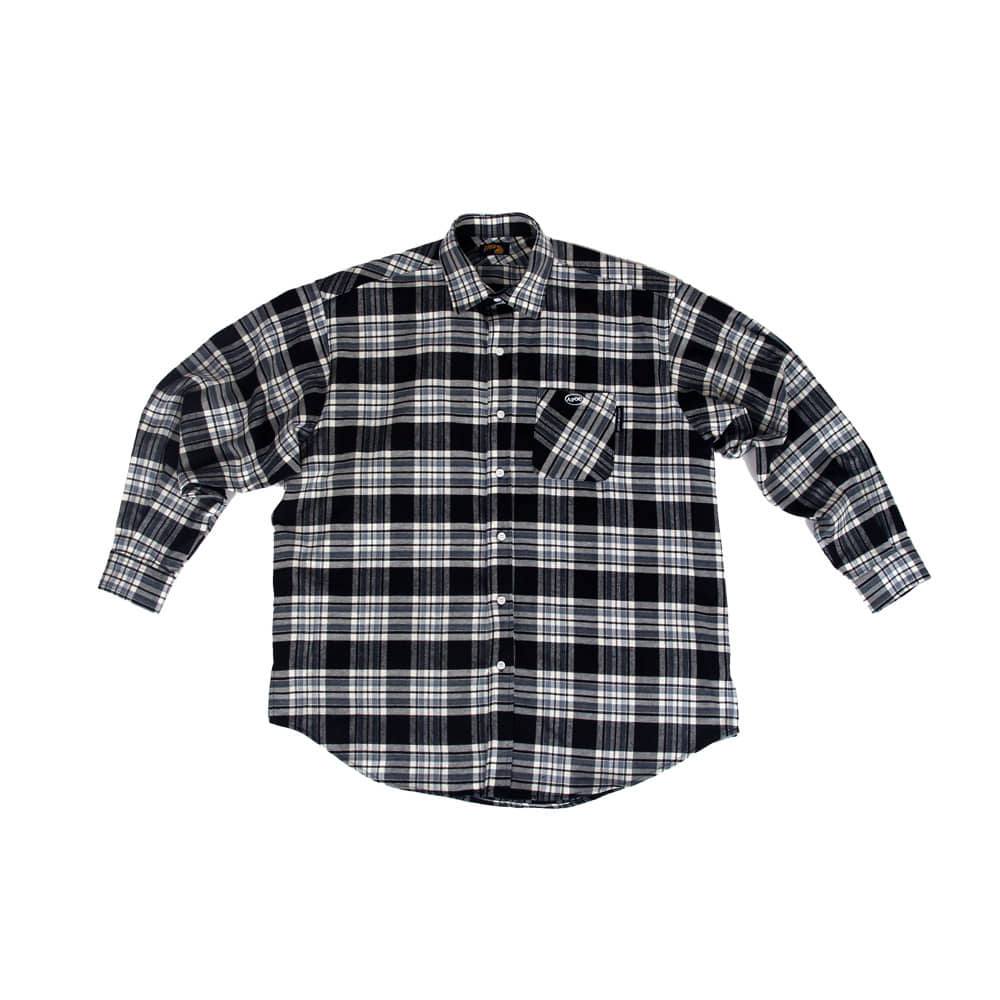 Oval Logo Check Shirts_Black