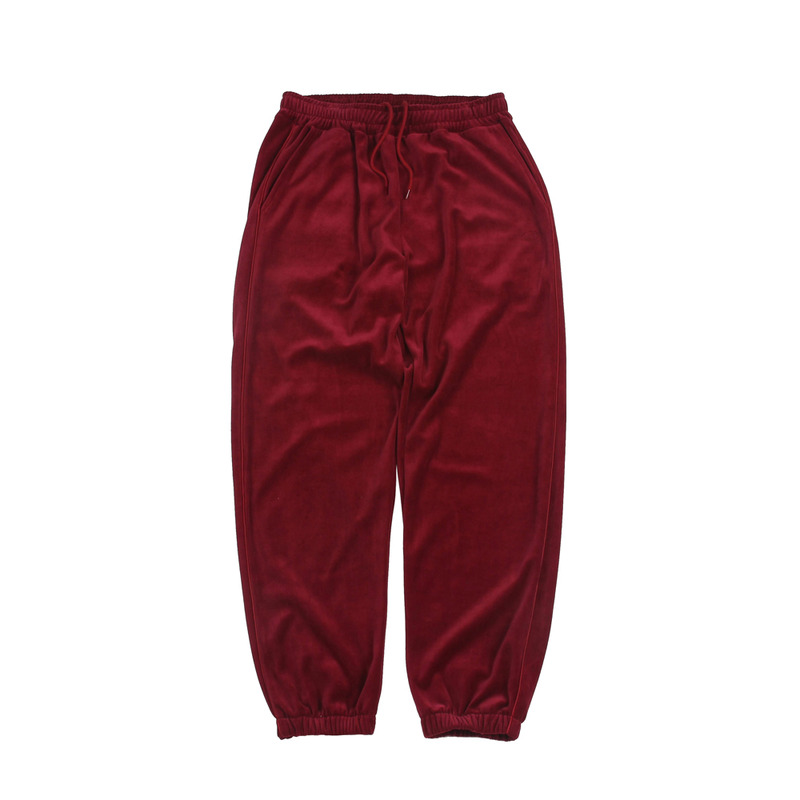 Velour Track Pants_Red