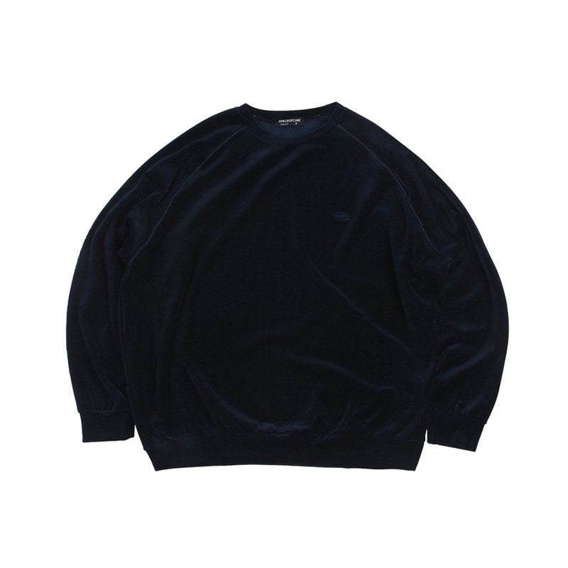 Velour Crewneck_Navy