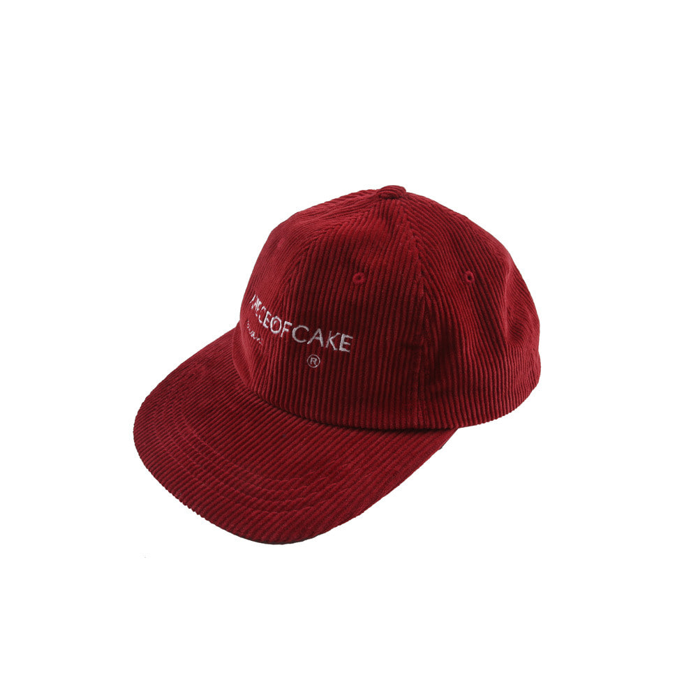 Corduroy Ball Cap_Red