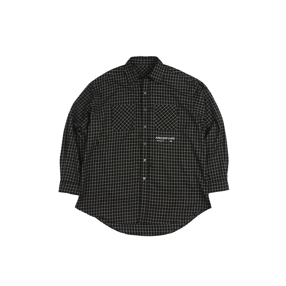 Square Check Shirts_Black