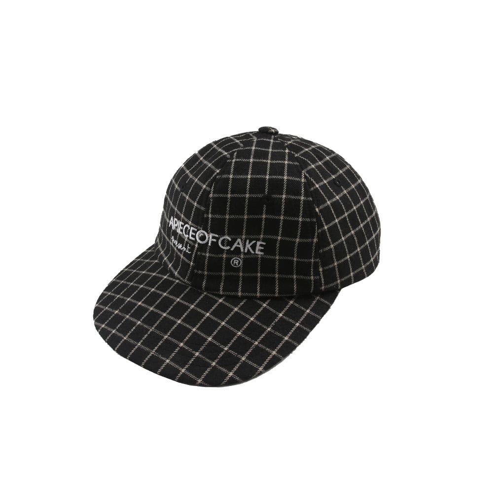 Squre Check Ball Cap_Black