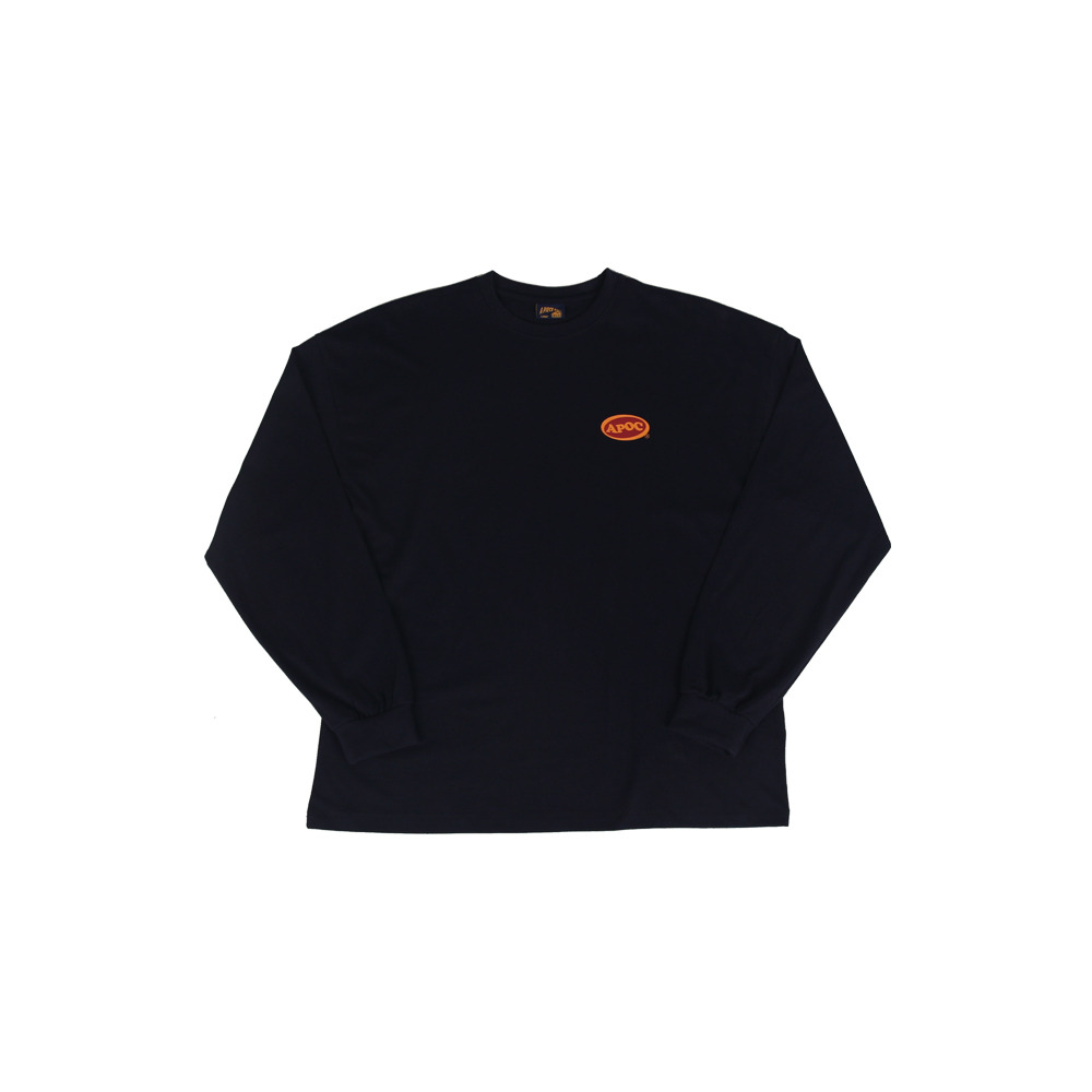 Oval Logo Longsleeved T-Shirts_Navy