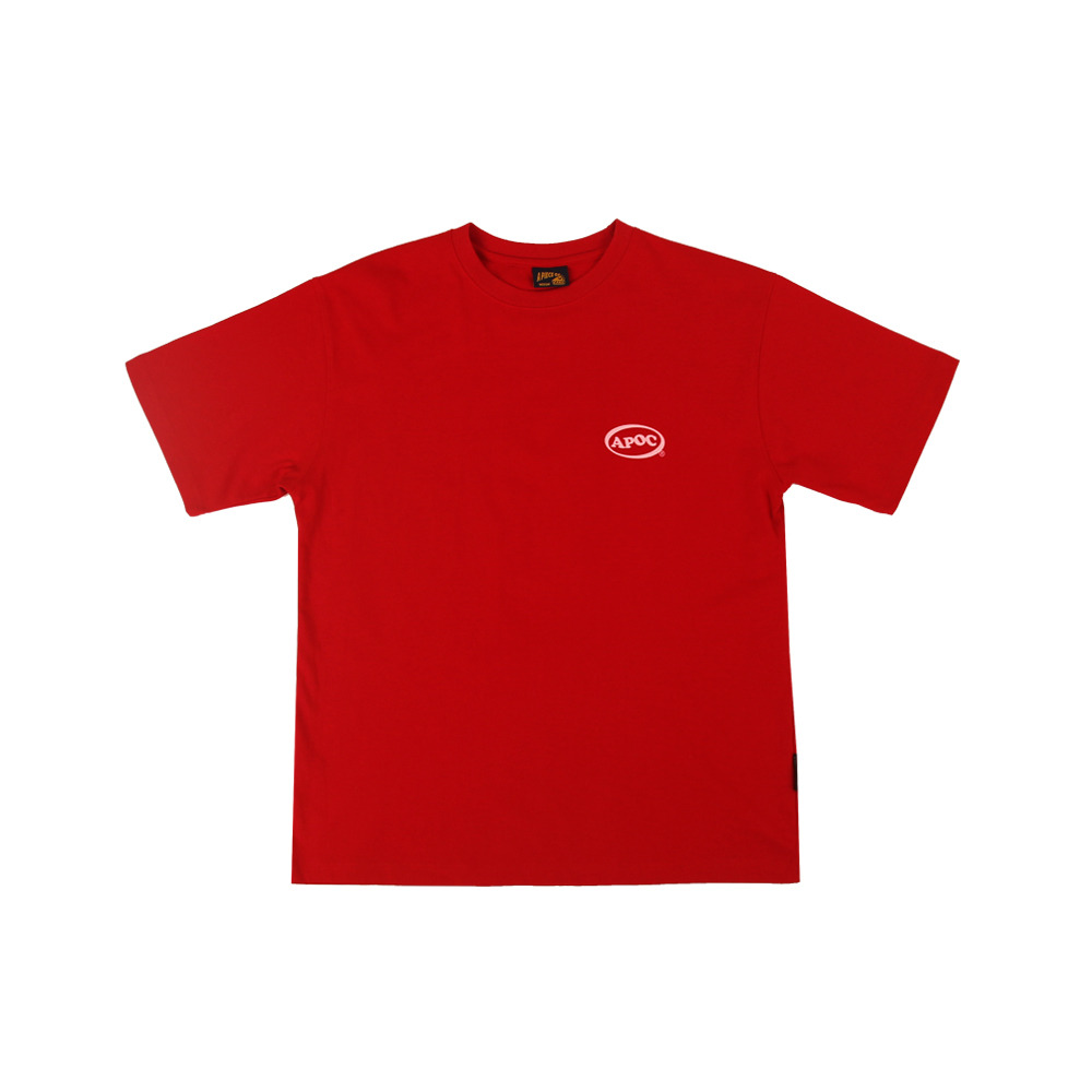 Oval Logo 1/2 T-Shirts_Red
