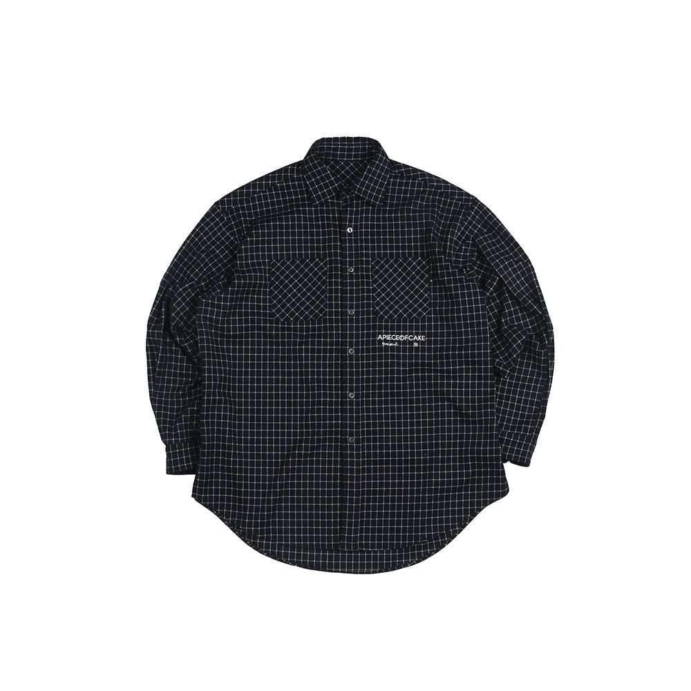 Squre Check Shirts_Navy