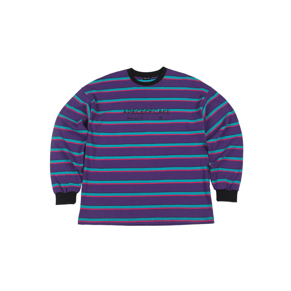 Logo Stripe Longsleeve_Purple