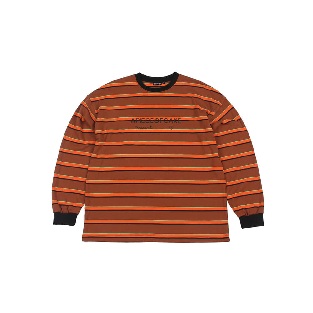 Logo Stripe Longsleeve_Orange