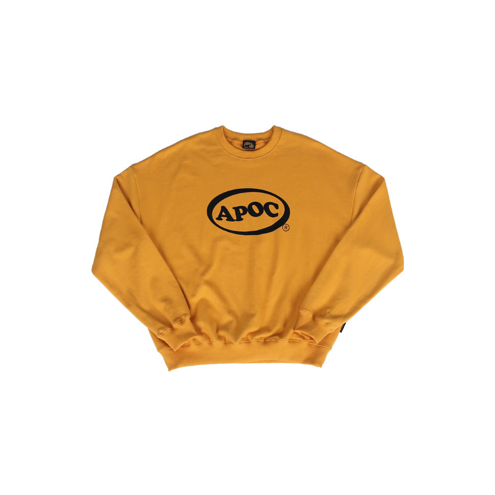 Oval Logo Crewneck_Yellow