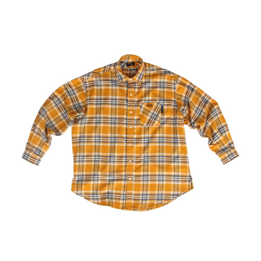 Oval Logo Check Shirts_Yellow