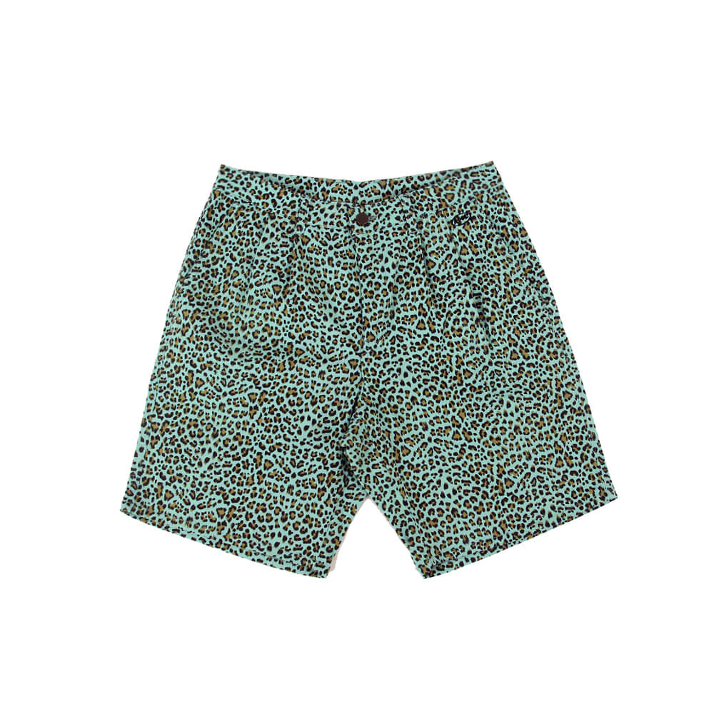 Leopard 1/2 Pants_Mint