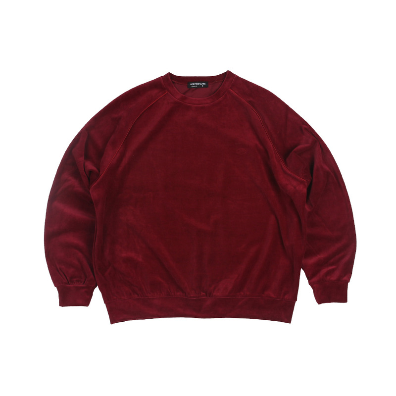 Velour Crewneck_Red