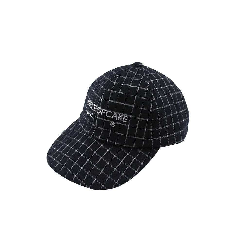 Squre Check Ball Cap_Navy