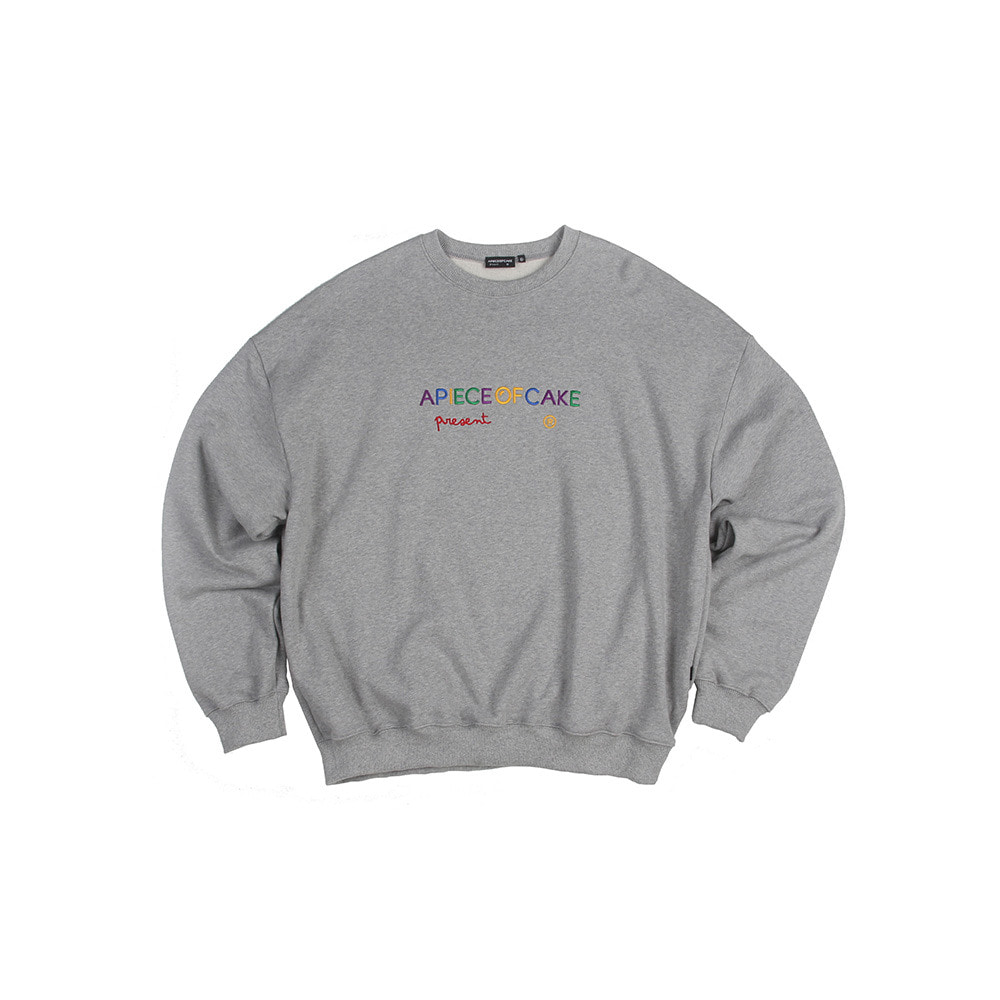 Multi Logo Crewneck_Gray