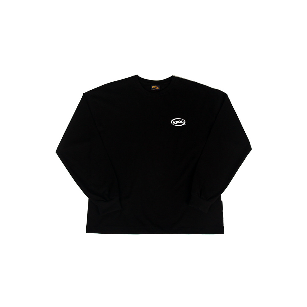 Oval Logo Longsleeved T-Shirts_Black