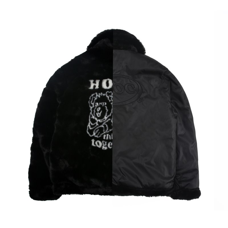 HTT Fur Jacket_Black