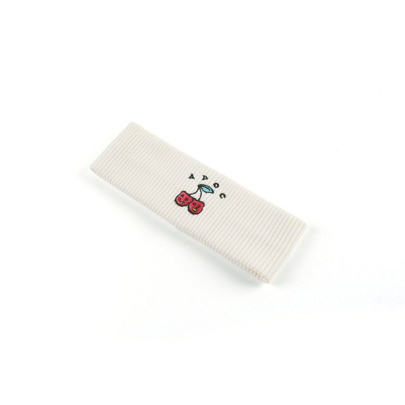 Cherry Bear Hairband_White