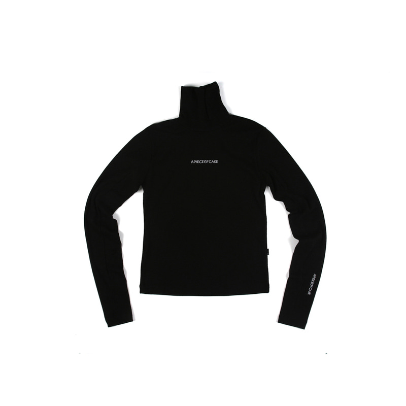 Polo Neck T-shirts_Black