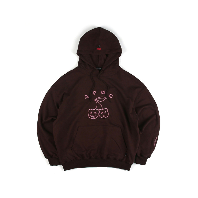 Cherry Bear Hoodie_Brown