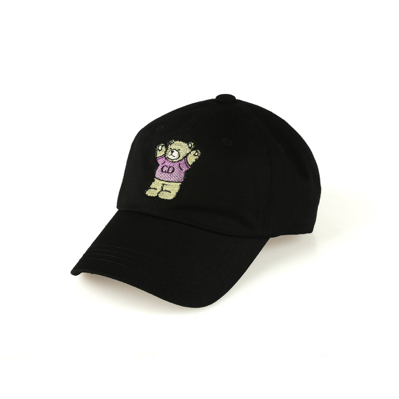 CD Bear Ball Cap_Black
