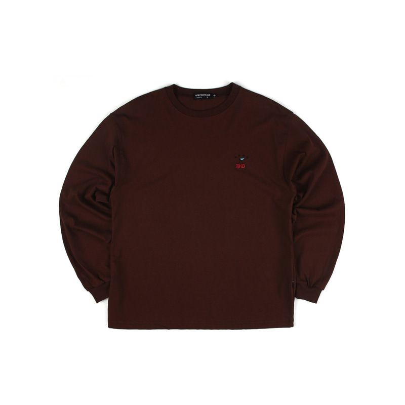 Cherry Bear Longsleeve_Brown