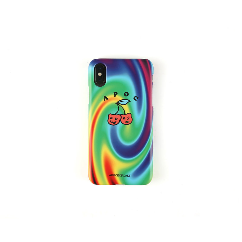 Cherry Bear Phone Case_Rainbow