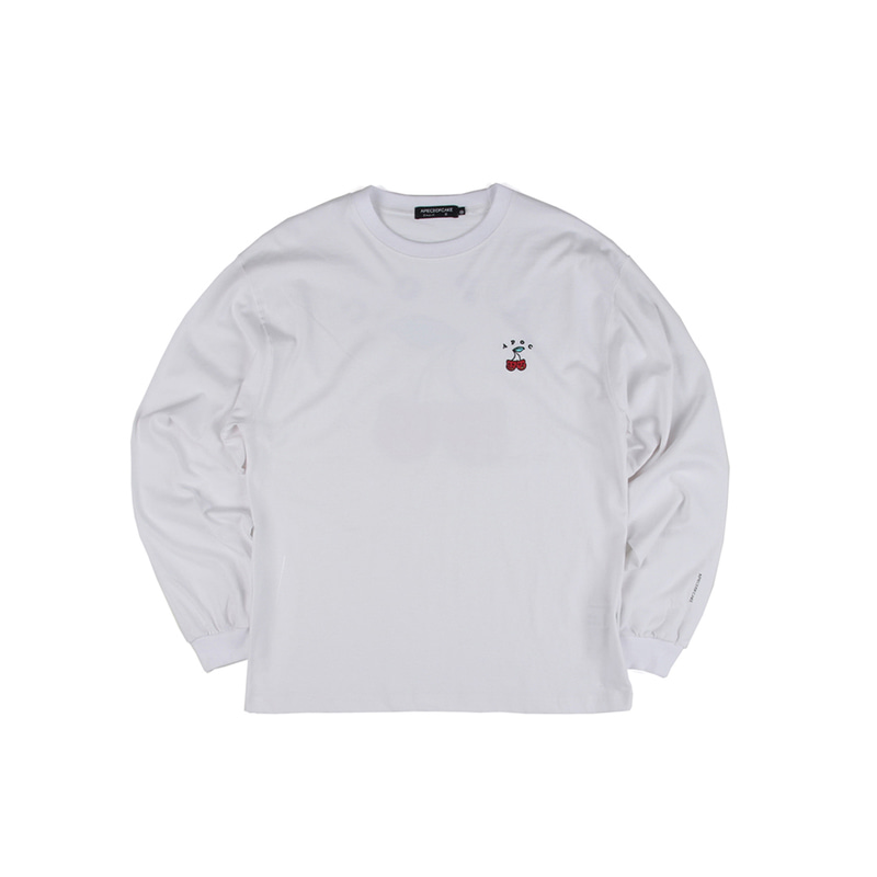 Cherry Bear Longsleeve_White