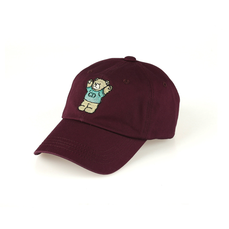 CD Bear Ball Cap_Magenta