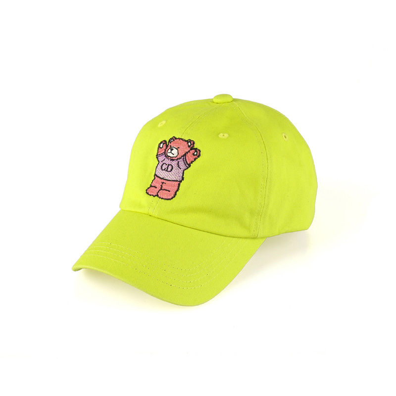 CD Bear Ball Cap_Lime