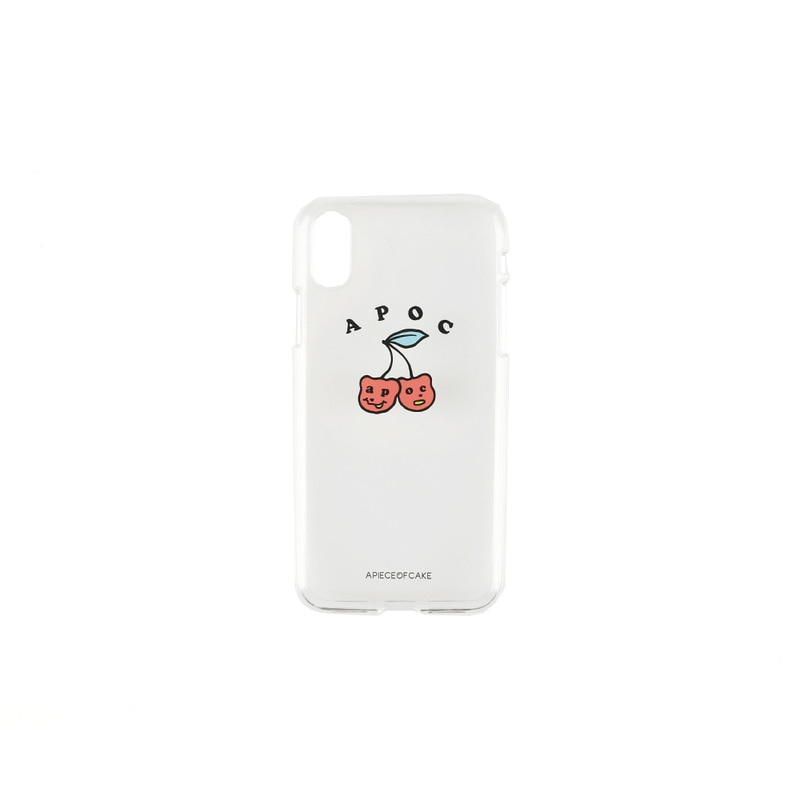 Cherry Bear Phone Case_Clear