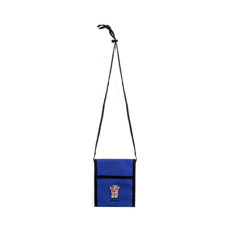 CD Bear Neck Pouch_Blue