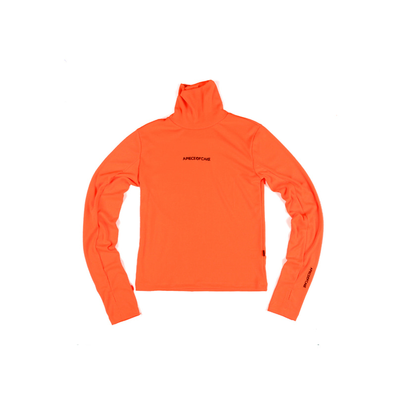 Polo Neck T-shirts_Vivid orange