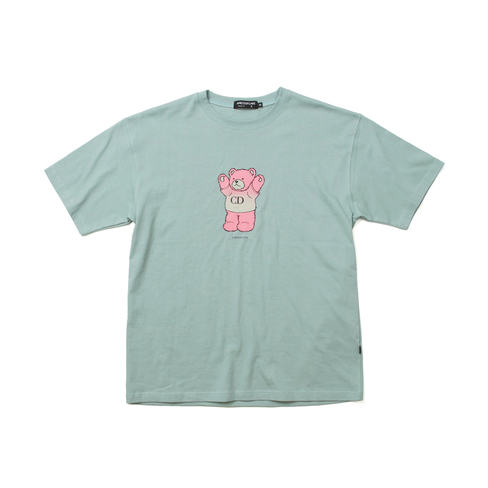 CD Bear T-shirts_Ash green