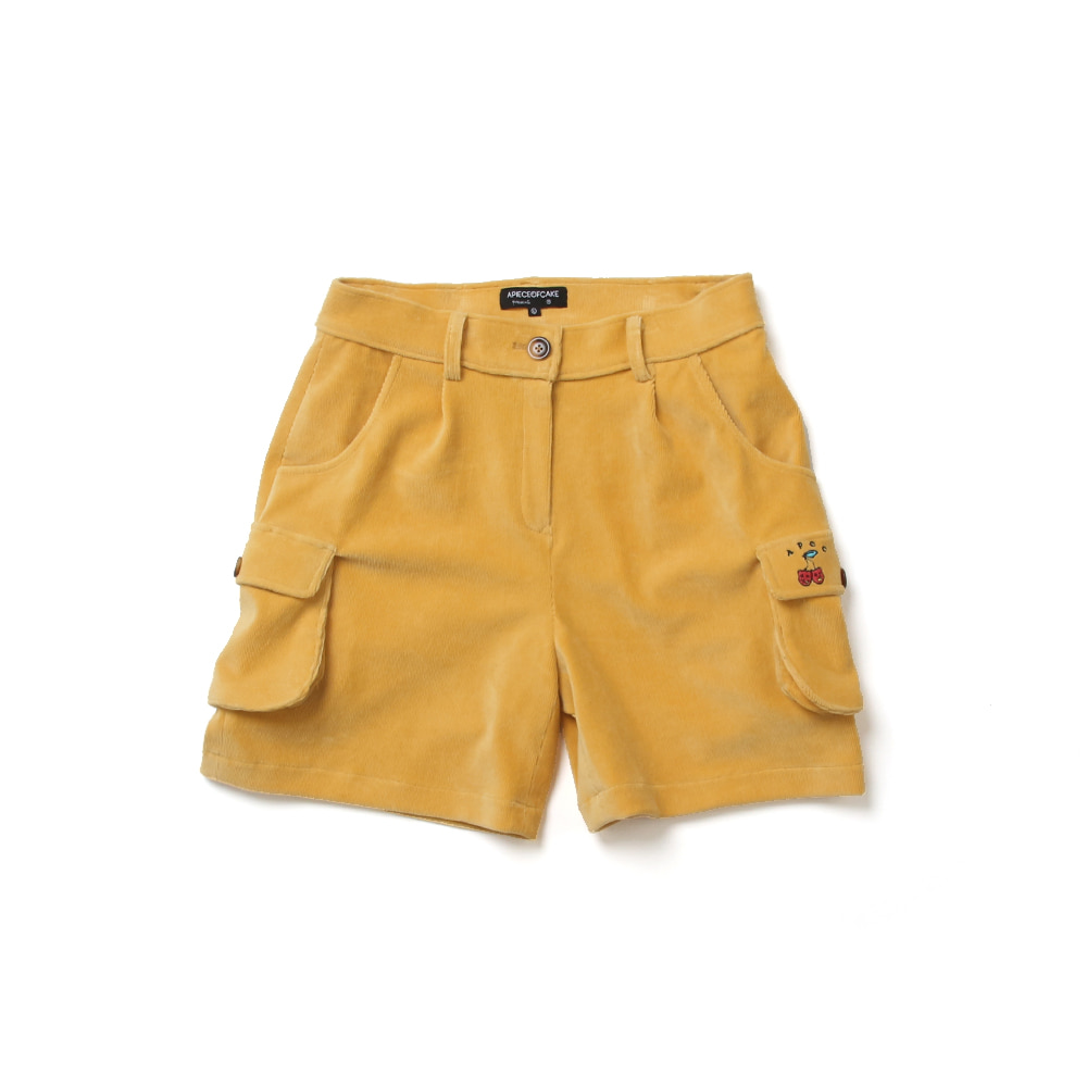 Cargo Half Pants_Yellow